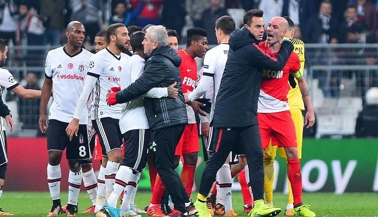 Beşiktaş - Monaco maç sonu olay! Quaresma'nın üstüne yürüdü