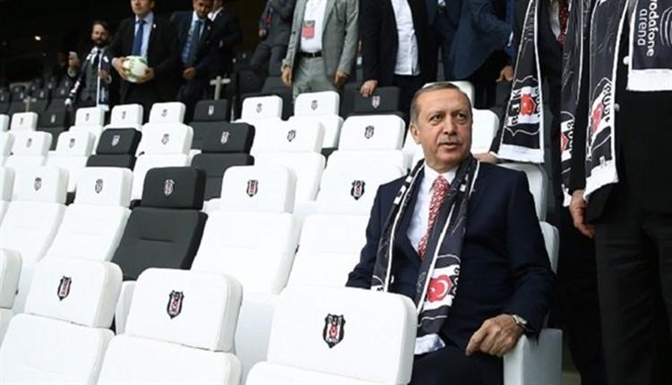 Beşiktaş'a Recep Tayyip Erdoğan'dan destek