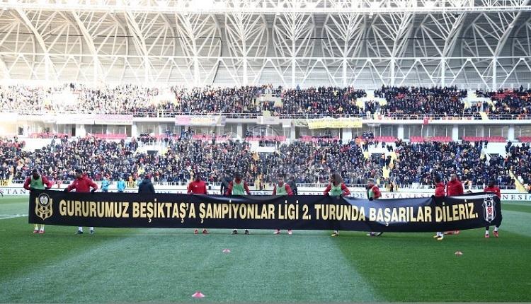 Beşiktaş'a Yeni Malatyaspor'dan anlamlı pankart