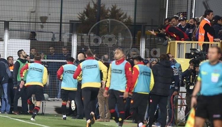 Beşiktaş'ta Negredo Göztepe taraftarıyla gerginlik yaşadı