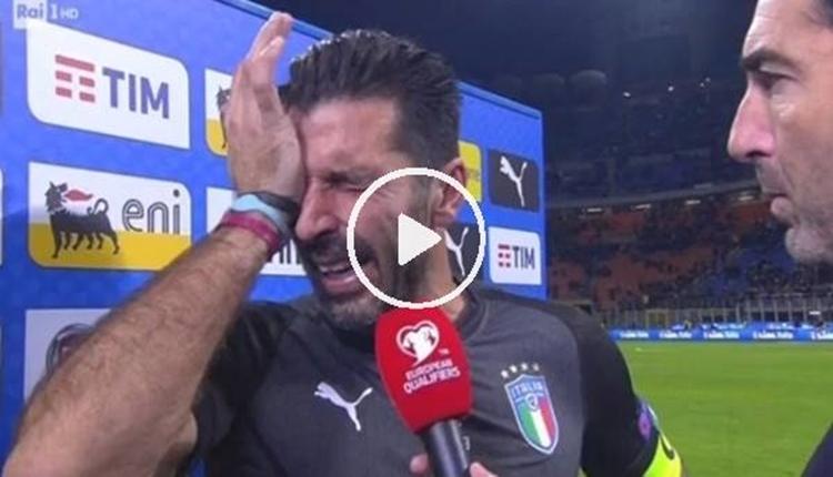 Buffon milli takımı bıraktı, gözyaşlarını tutamadı (İZLE)