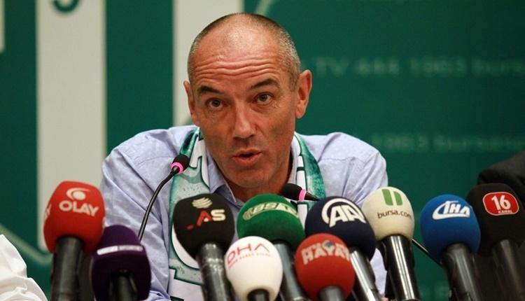 Bursaspor'da Paul Le Guen: 'En iyi takım biz değiliz'