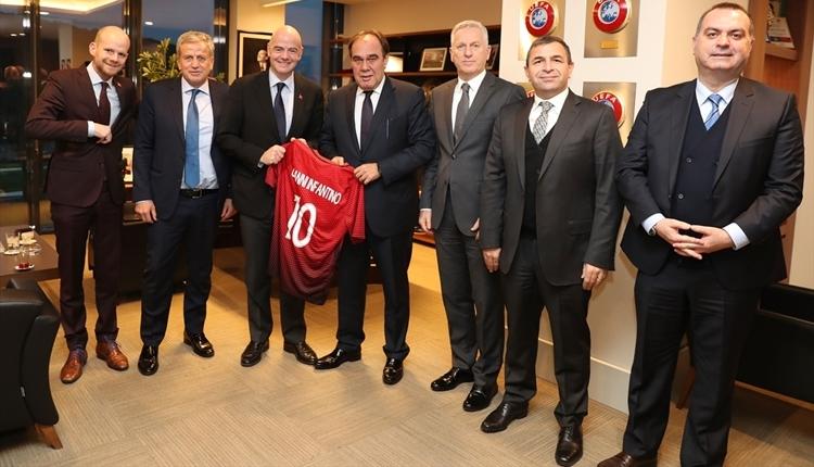 FIFA Başkanı Infantino, Yıldırım Demirören'i ziyaret etti