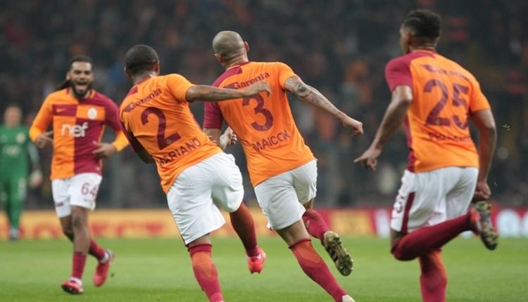 Galatasaray'da Maicon tek başına Fenerbahçe'yi geçti