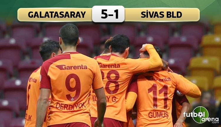 Galatasaray 5-1 Sivas Belediyespor maç özeti ve golleri (İZLE)