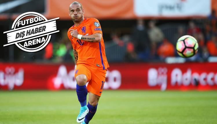 Galatasaray'ın eski yıldızı Sneijder'den emeklilik açıklaması!