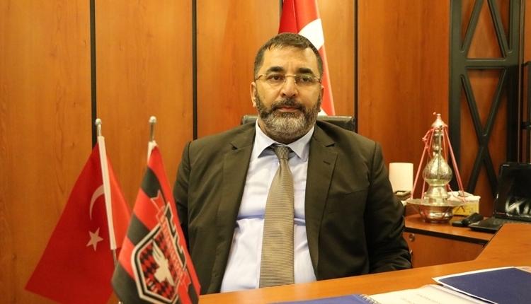 Gaziantepspor Başkanı Huzeyfe Durmaz'dan taraftara gönderme