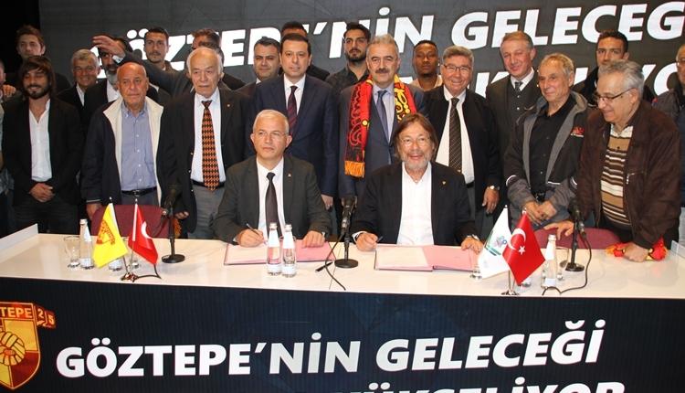 Göztepe'nin yeni altyapı tesisleri için imzalar atıldı