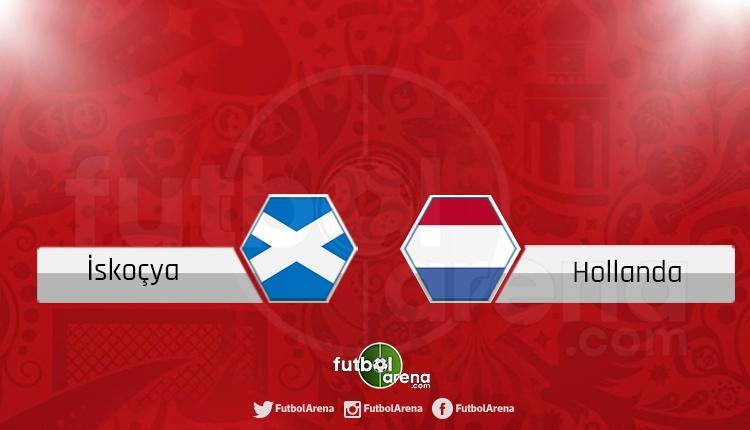 İskoçya Hollanda canlı skor, maç sonucu - Maç hangi kanalda?