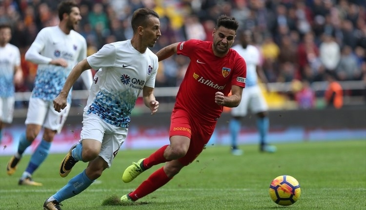 Kayserispor 0-0 Trabzonspor maç özeti