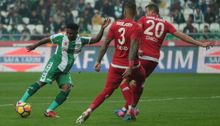 Konyaspor 1-1 Antalyaspor maç özeti ve golleri (İZLE)