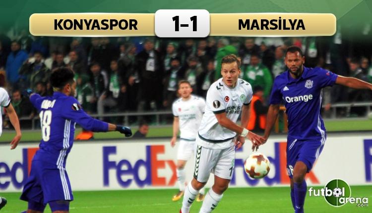 Atiker Konyaspor 1-1 Marsilya maç özeti ve golleri (İZLE)