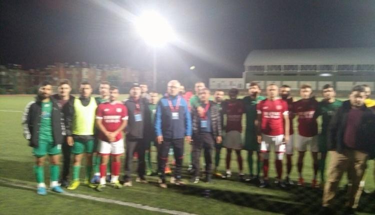 Mersin'de amatör maçta çarpıcı olay! Hakem maçı erteleme sebebi...