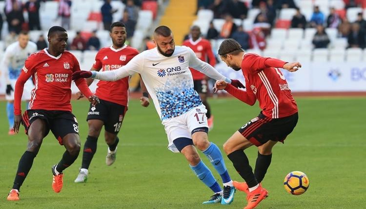 Sivasspor 1 - 2 Trabzonspor maç özeti ve golleri (İZLE)