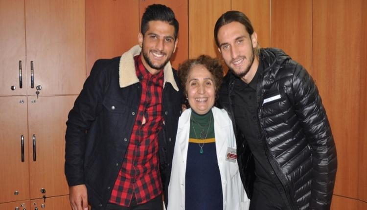Trabzonspor'un genç yıldızları Yusuf Yazıcı ve Abdürrahim Dursun'dan önemli ziyaret