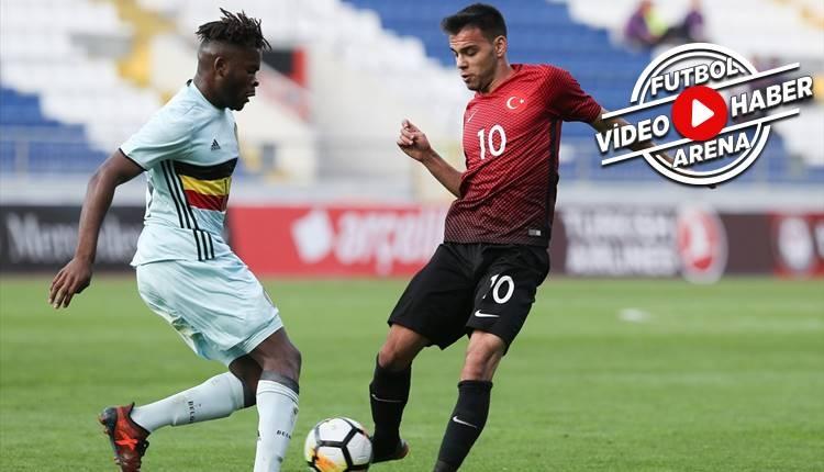 Türkiye 1-2 Belçika Ümit Milli maç özeti ve golleri (İZLE)