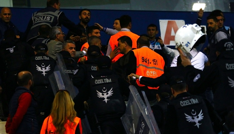 Adana Demirspor - Elazığspor maç sonu olay çıktı
