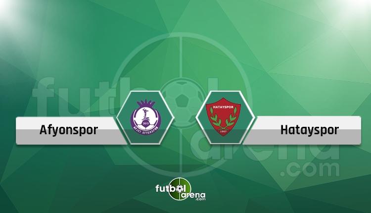 Afyonspor - Hatayspor maçı canlı ve şifresiz yayın İZLE