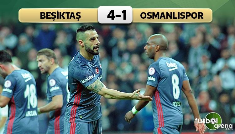 Beşiktaş 4-1 Osmanlıspor maç özeti ve golleri (İZLE)