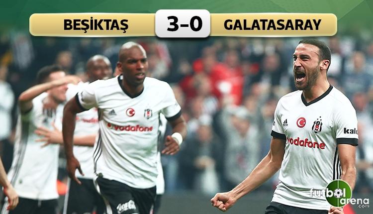 Beşiktaş 3 - 0 Galatasaray maçın özeti ve golleri (İZLE)