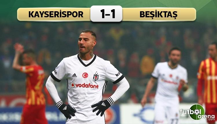 Kayserispor 1-1 Beşiktaş maç özeti ve golleri (İZLE)