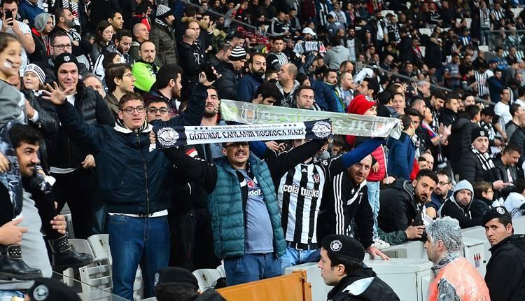 Beşiktaş taraftarından Osmanlıspor maçında Galatasaray tezahuratı