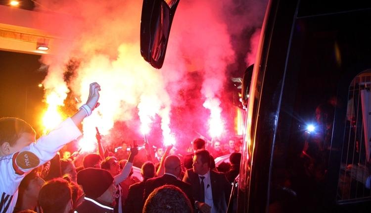 Beşiktaş'a derbinin ardından tesislerde müthiş karşılama
