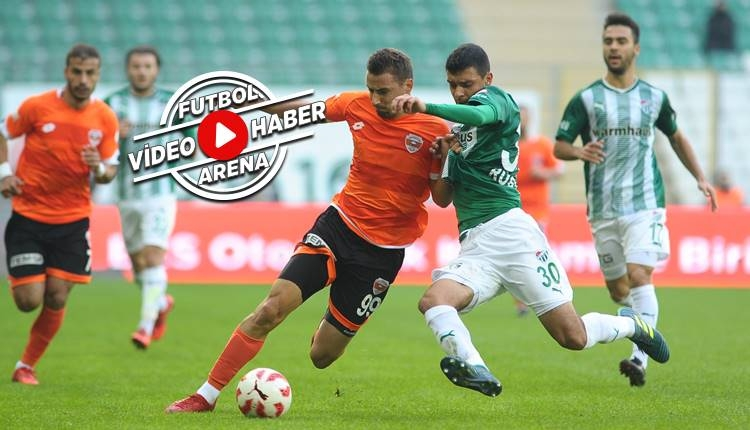 Bursaspor 2-0 Adanaspor maçı özeti ve golleri (İZLE)
