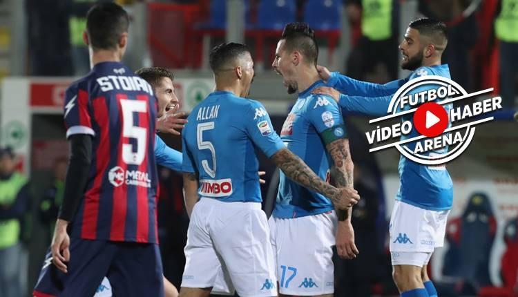 Crotone 0-1 Napoli maçı özeti ve golü (İZLE)