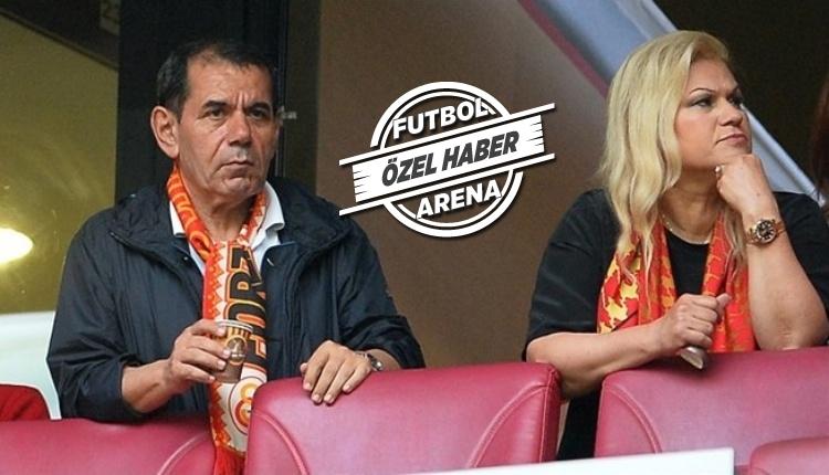 Dursun Özbek ve Mesude Özbek'ten Galatasaray'a tribünden destek