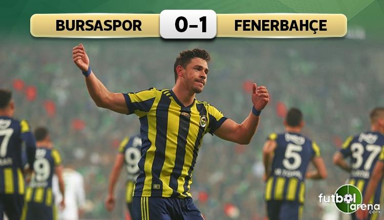 Bursaspor 0-1 Fenerbahçe maçının özeti ve golü (İZLE)
