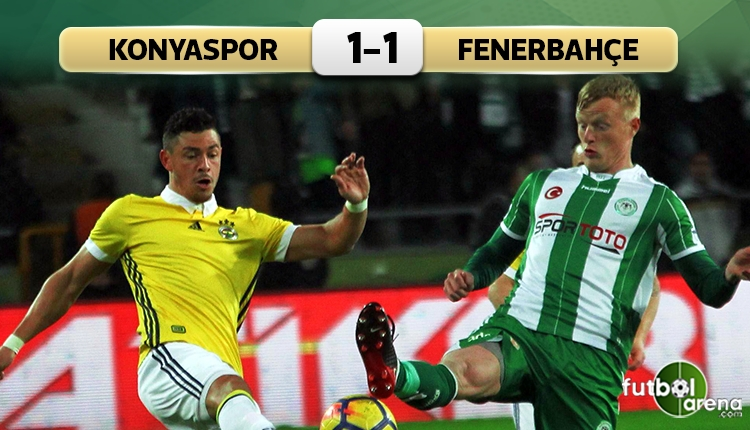 Konyaspor 1-1 Fenerbahçe maç özeti ve golleri (İZLE)