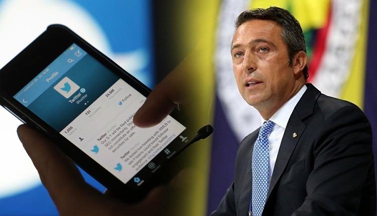 Fenerbahçe'de Ali Koç'un seçim için kullandığı hesap askıya alındı