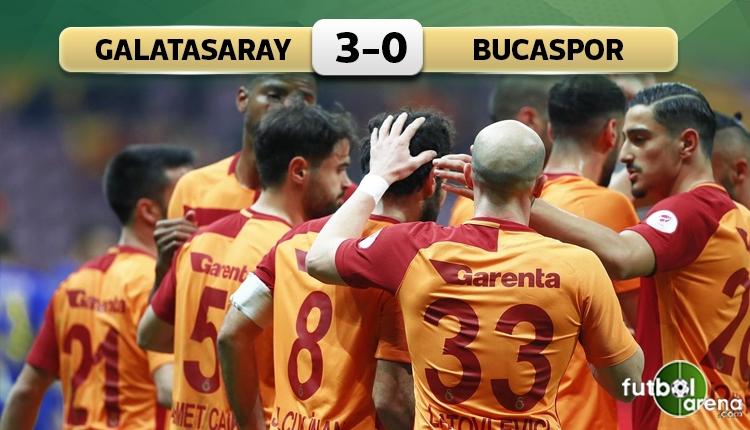 Galatasaray, Bucaspor'u rahat geçti! Fatih Terim ile 2. zafer