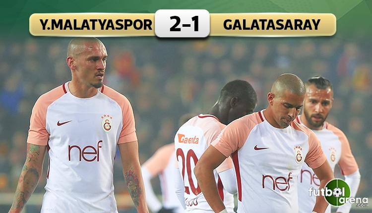 Yeni Malatyaspor 2-1 Galatasaray maç özeti ve golleri (İZLE)
