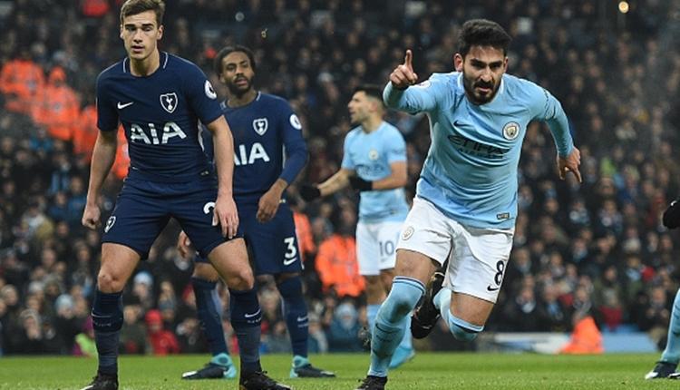 İlkay Gündoğan, Manchester City - Tottenham maçında gol hasretine son verdi (İZLE)