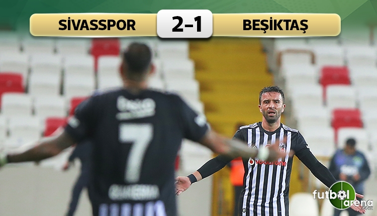 Sivasspor 2-1 Beşiktaş maç özeti ve golleri (İZLE)