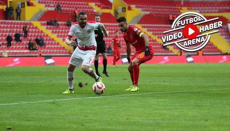 Kayserispor 3-1 Antalyaspor maçı özeti ve golleri (İZLE)