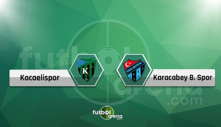 Kocaelispor - Karacabey Birlikspor maçı canlı ve şifresiz İZLE