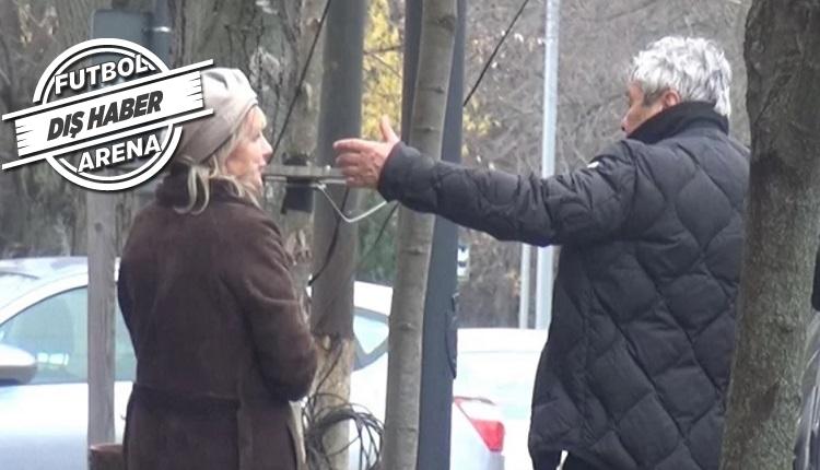 Lucescu Romanya'da sokak ortasında eşiyle kavga etti