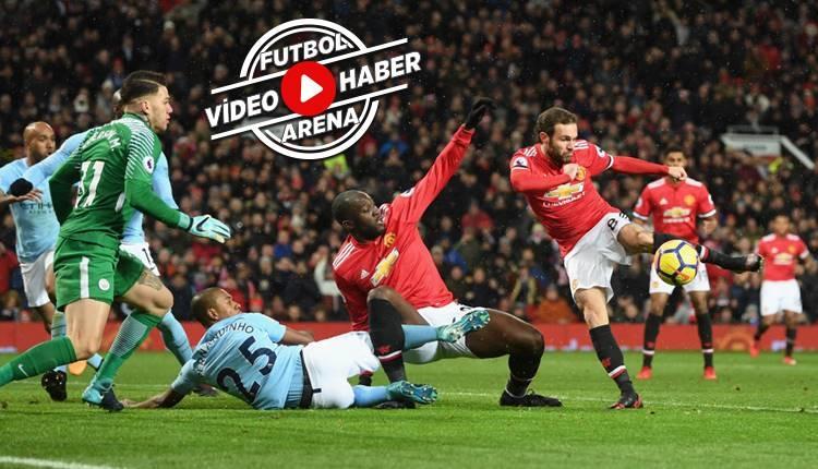 Manchester United 1-2 Manchester City maçı özeti ve golleri (İZLE)