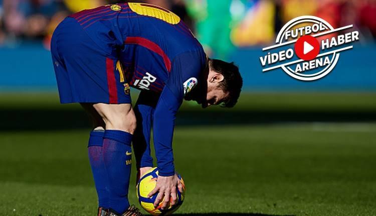 Messi frikiği Ronaldo'nun yüzüne vurdu (İZLE)