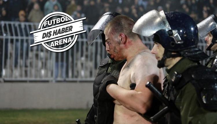 Partizan - Kızılyıldız derbisinde vahşet! Taraftarları döverek soydular