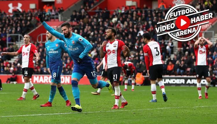 Southampton 1-1 Arsenal maçı özeti ve golleri (İZLE)
