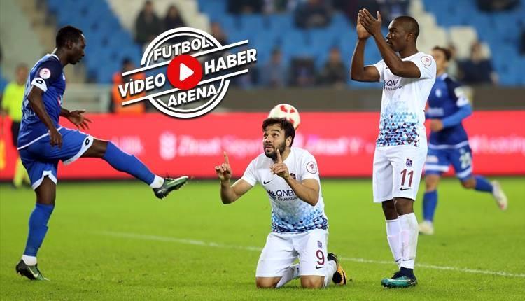 Trabzonspor 5-1 Erzurumspor maçı özeti ve golleri (İZLE)