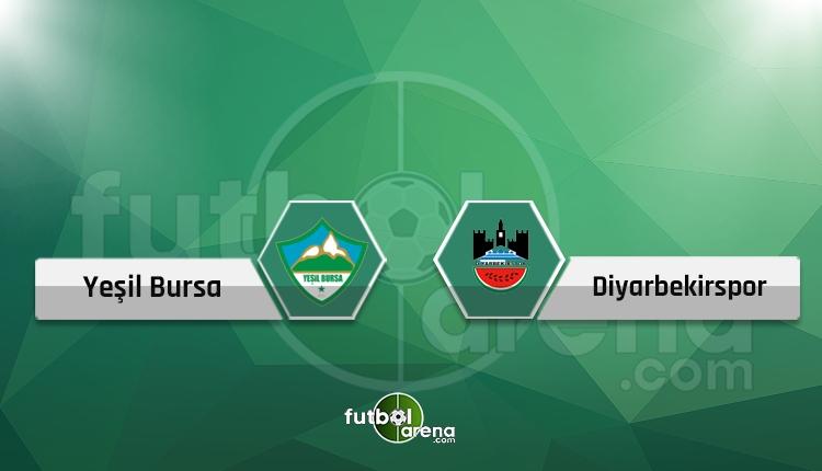 Yeşil Bursa - Diyarbekirspor maçı canlı ve şifresiz kanal yayını İZLE