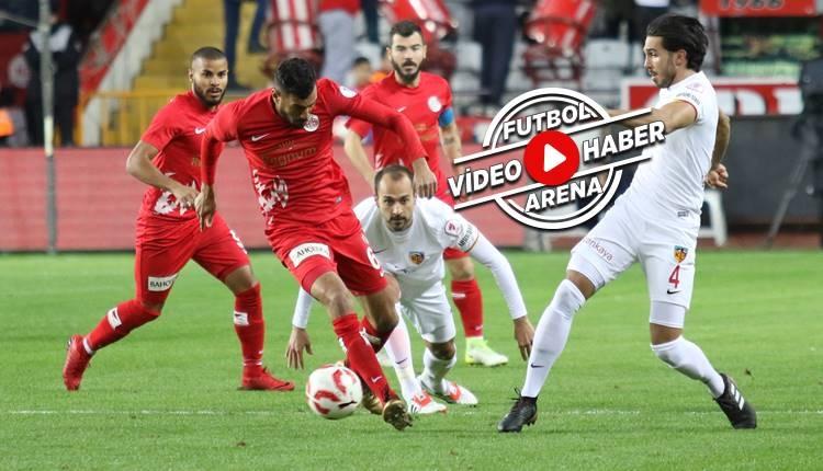 Antalyaspor 0-2 Kayserispor maçı özeti ve golleri (İZLE)