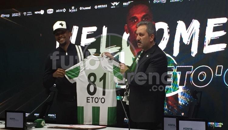 Atiker Konyaspor'un yeni transferi Samuel Eto'o: 'Transferim acı dolu'