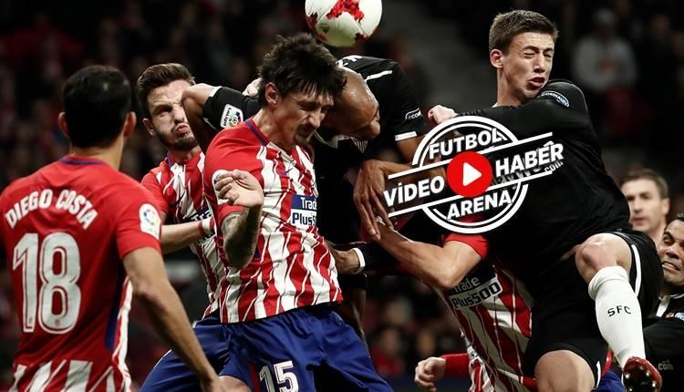 Atletico Madrid 1-2 Sevilla maçı özeti ve golleri (İZLE)