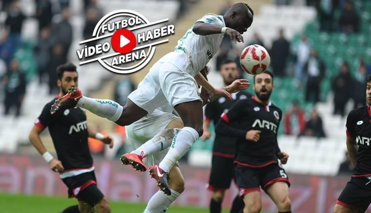 Bursaspor 2-1 Gençlerbirliği maçı özeti ve golleri (İZLE)